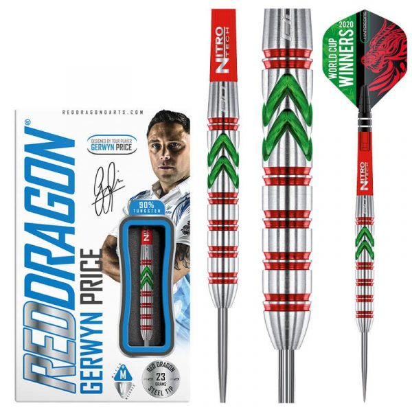 Red Dragon RD straight The Iceman 23g 90% tungsten World Cup Special Edition