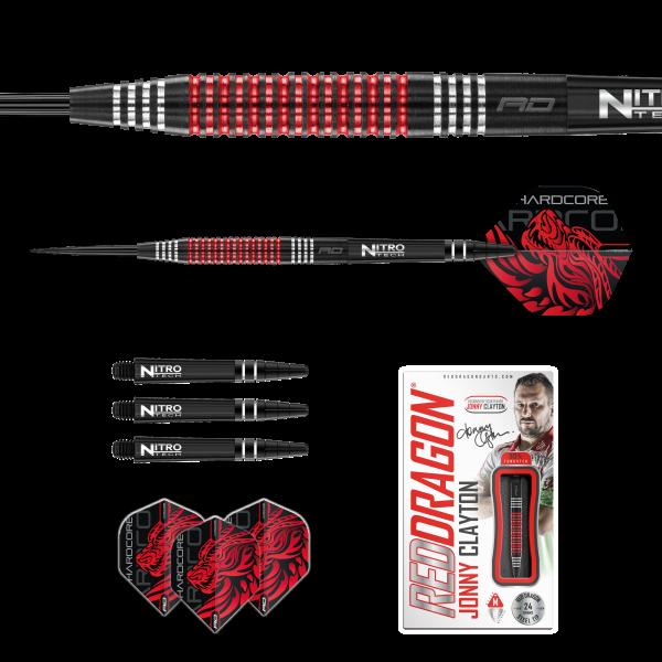 Red Dragon RD Jonny Clayton straight specialist tapered 24g 90% tungsten zwart special edition