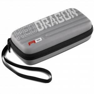 Dartcase koffer Red Dragon grijs