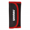 Wallet case tri-fold zwart rood