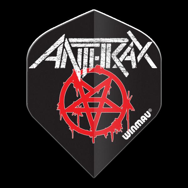 Winmau flight Rock Legends Anthrax logo 100_micron standaard