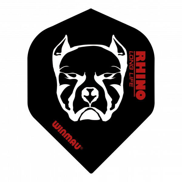 Winmau Flights Rhino standaard/zwart wit devil_dog 100_micron