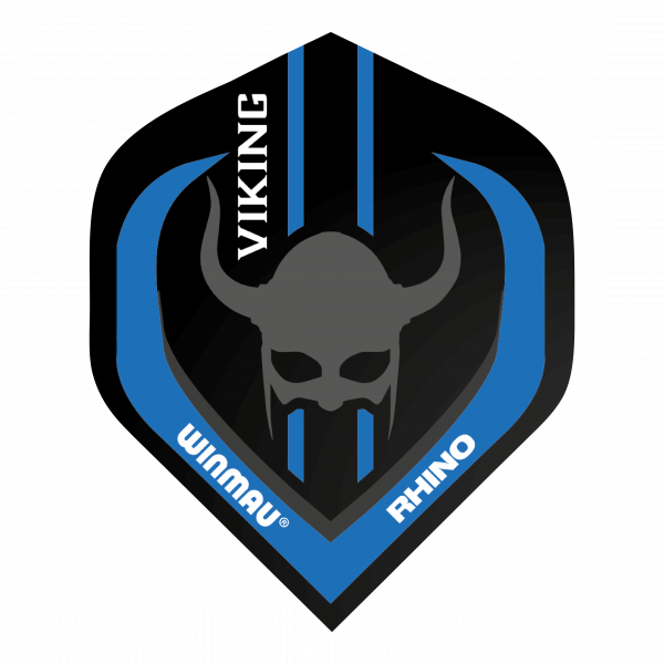 Winmau Flights Rhino standaard/zwart wit The_Vinking 100_micron