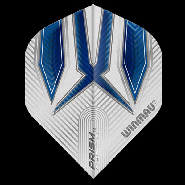 Winmau flights Alpha standaard Blauw wit 100micron