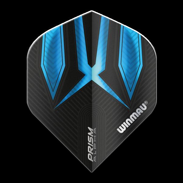 Winmau flights Alpha standaard blauw zwart 100micron
