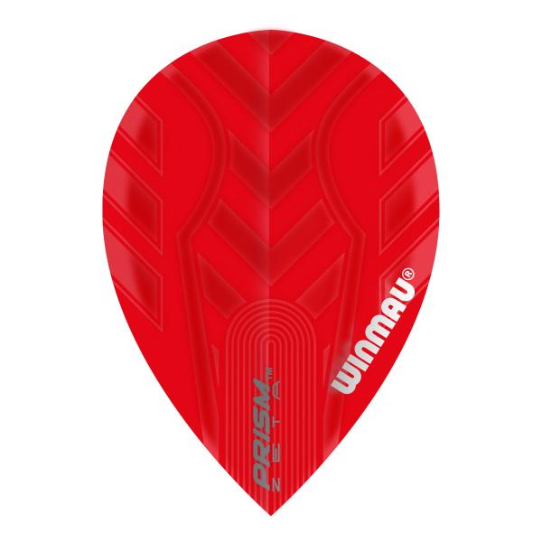 Winmau Flights Prism Zeta peer rood 100micron