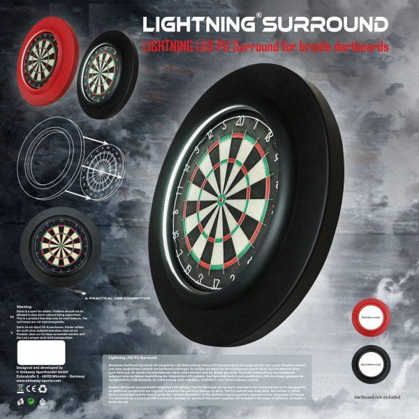 Lightning LED PU sourround box