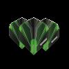 Winmau Prism Alpha flights groen-zwart