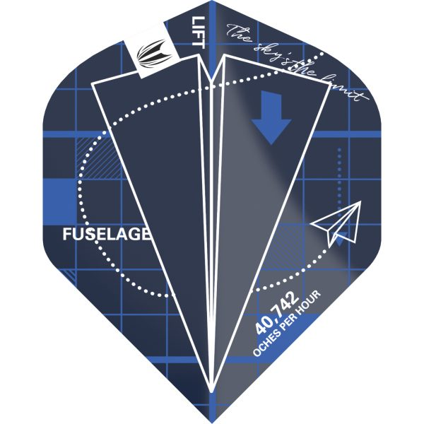 Target flight Blueprint blauw standaard N2