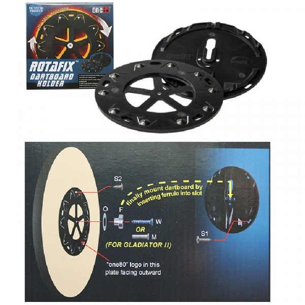 One80 Rotafix dartbord-houder